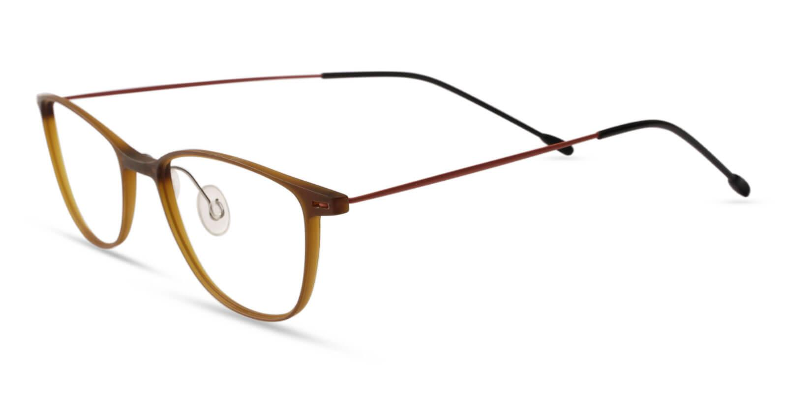 Pridgen Brown Combination NosePads , Eyeglasses , Lightweight Frames from ABBE Glasses