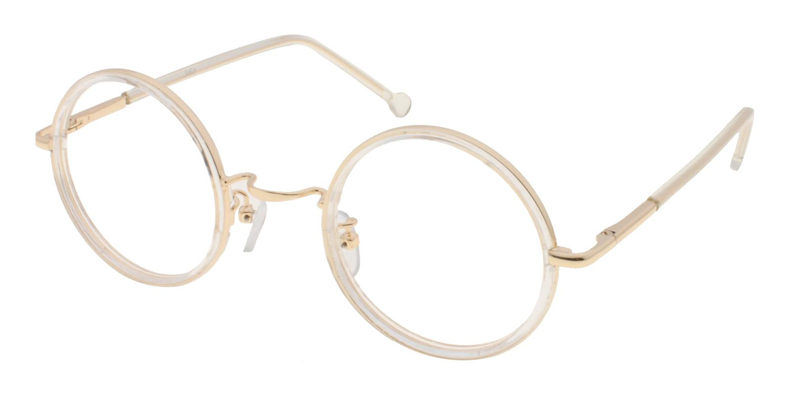 Heartbeat Translucent Metal Eyeglasses , NosePads Frames from ABBE Glasses