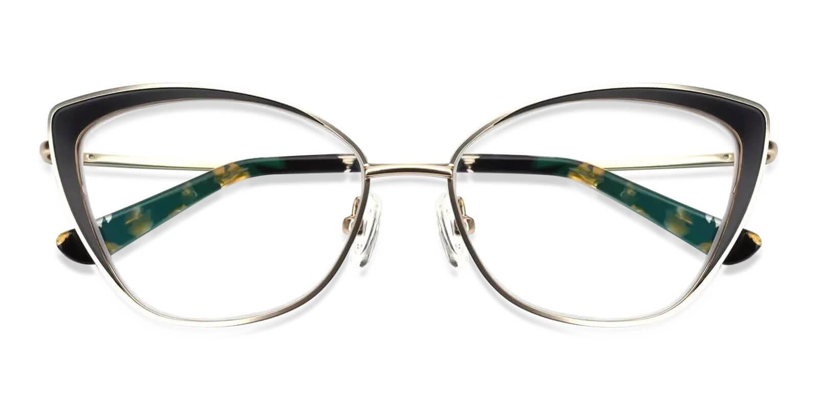 Paisley Gold Metal SpringHinges , Eyeglasses , NosePads Frames from ABBE Glasses