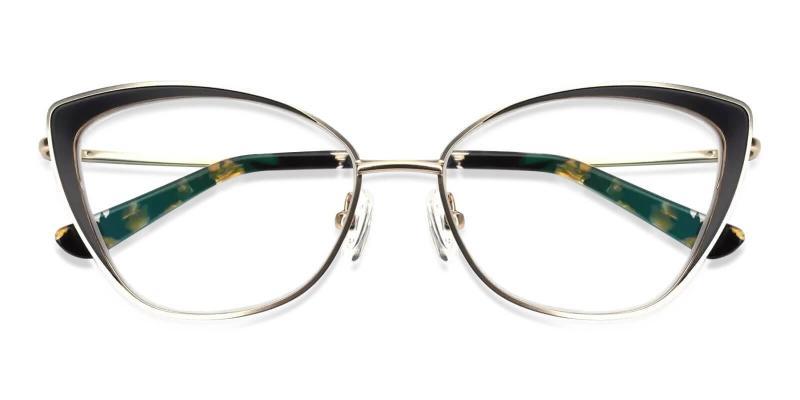 Gold Paisley - Metal SpringHinges , Eyeglasses , NosePads