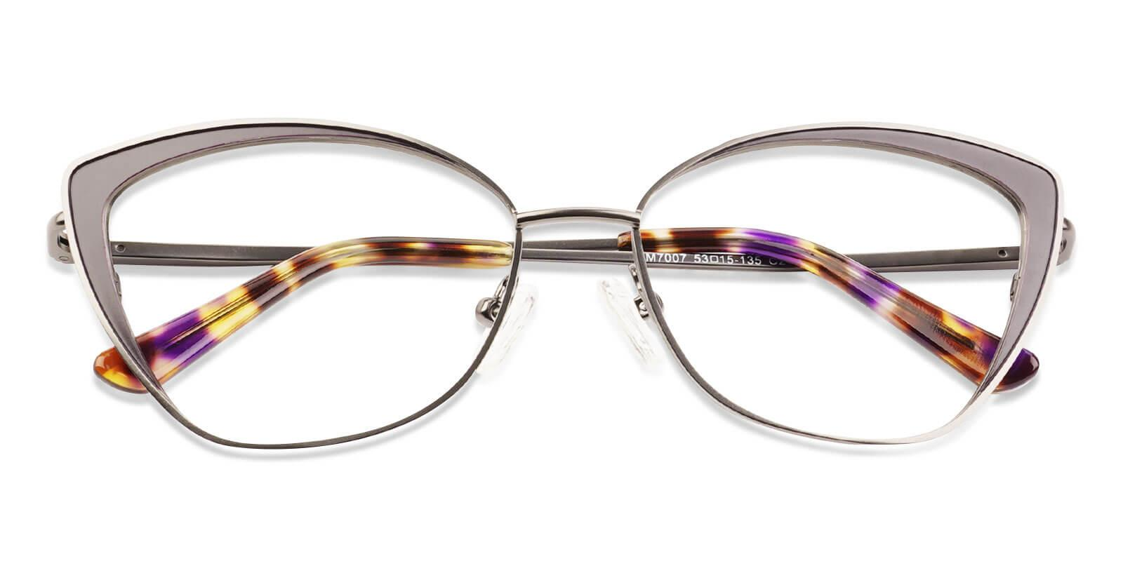Paisley Gun Metal SpringHinges , Eyeglasses , NosePads Frames from ABBE Glasses