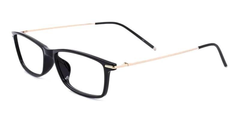 Black Radcliffe - TR Lightweight , UniversalBridgeFit , Eyeglasses