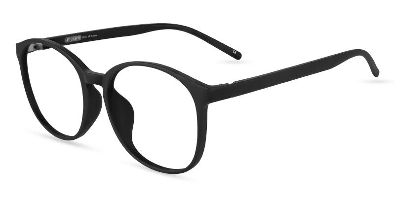 Black Dallas - TR Eyeglasses , Lightweight , UniversalBridgeFit