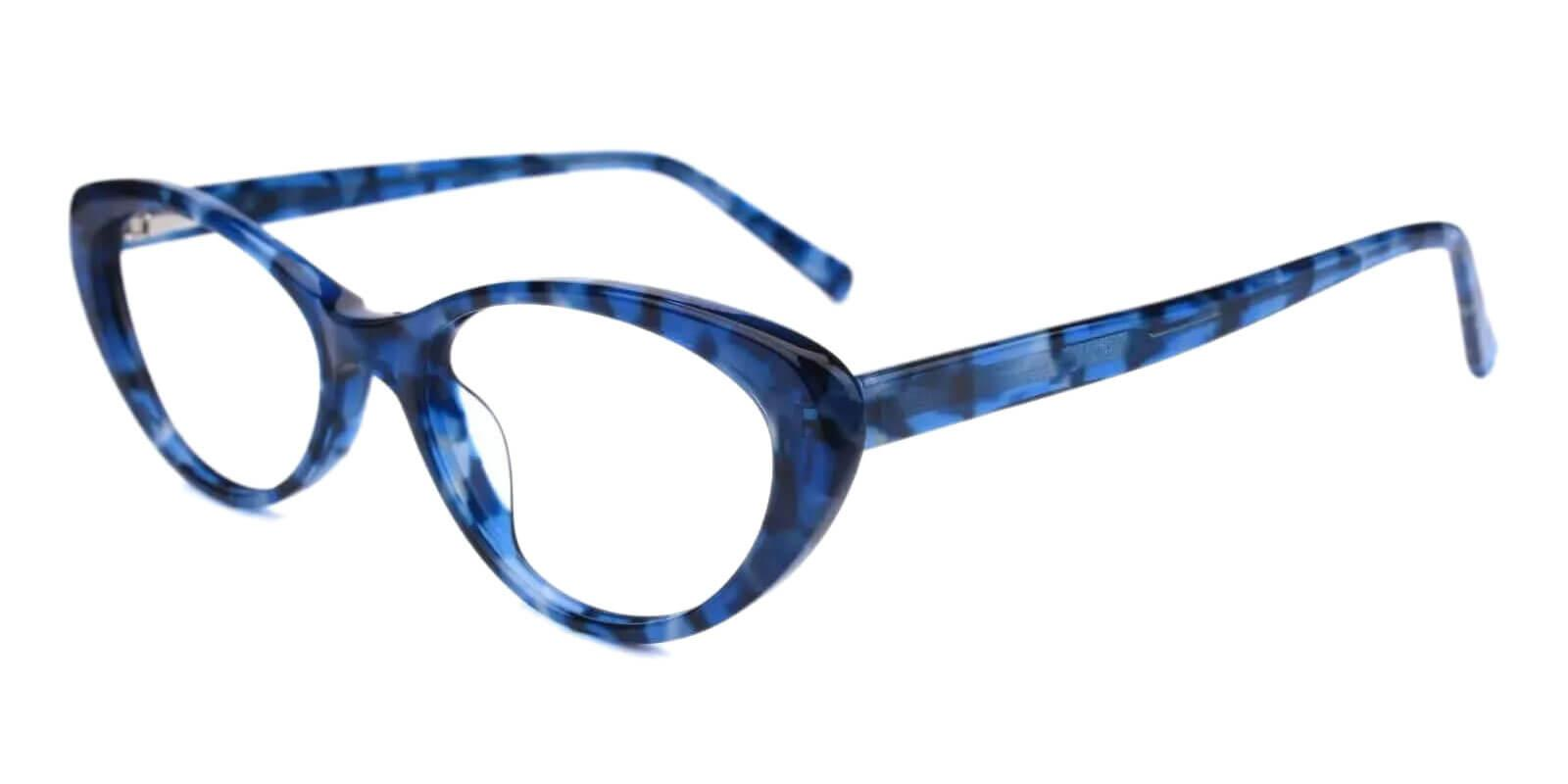 Elena Blue Acetate Eyeglasses , UniversalBridgeFit Frames from ABBE Glasses