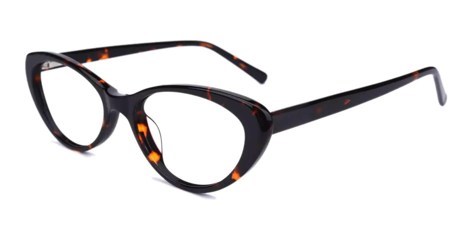 Elena Leopard Acetate Eyeglasses , UniversalBridgeFit Frames from ABBE Glasses
