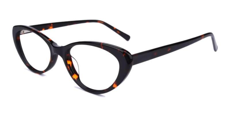 Leopard Elena - Acetate Eyeglasses , UniversalBridgeFit