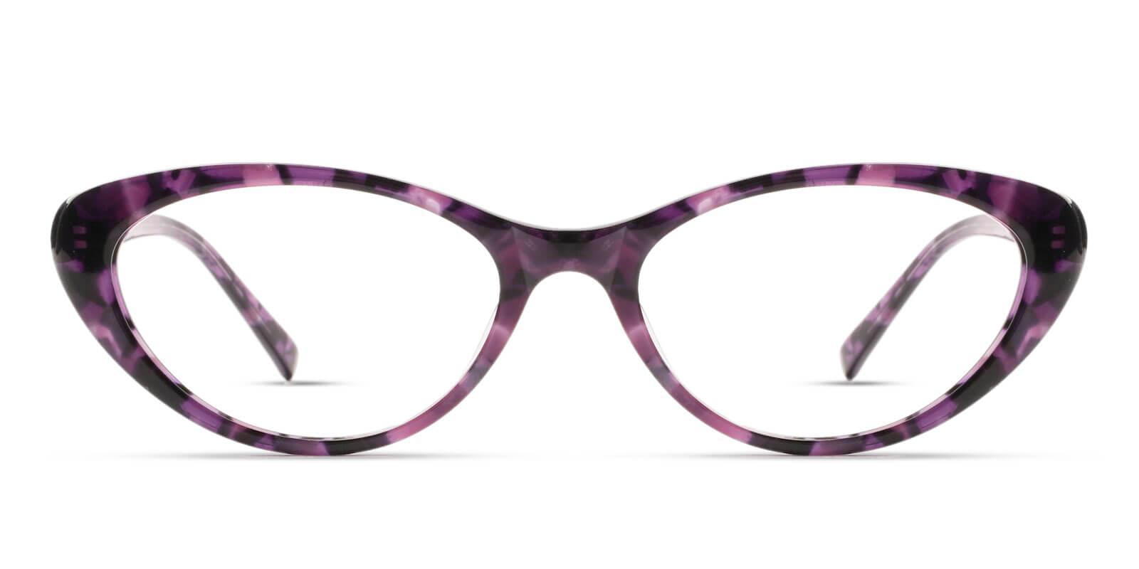 Elena Purple Acetate Eyeglasses , UniversalBridgeFit Frames from ABBE Glasses