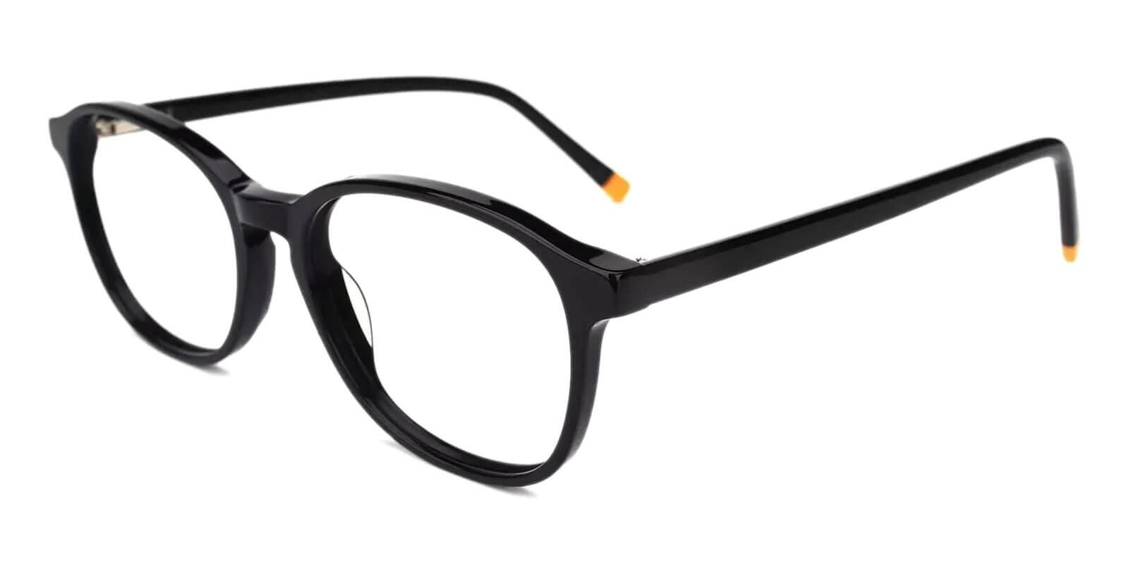 Brunei Black Acetate Eyeglasses , SpringHinges , UniversalBridgeFit Frames from ABBE Glasses