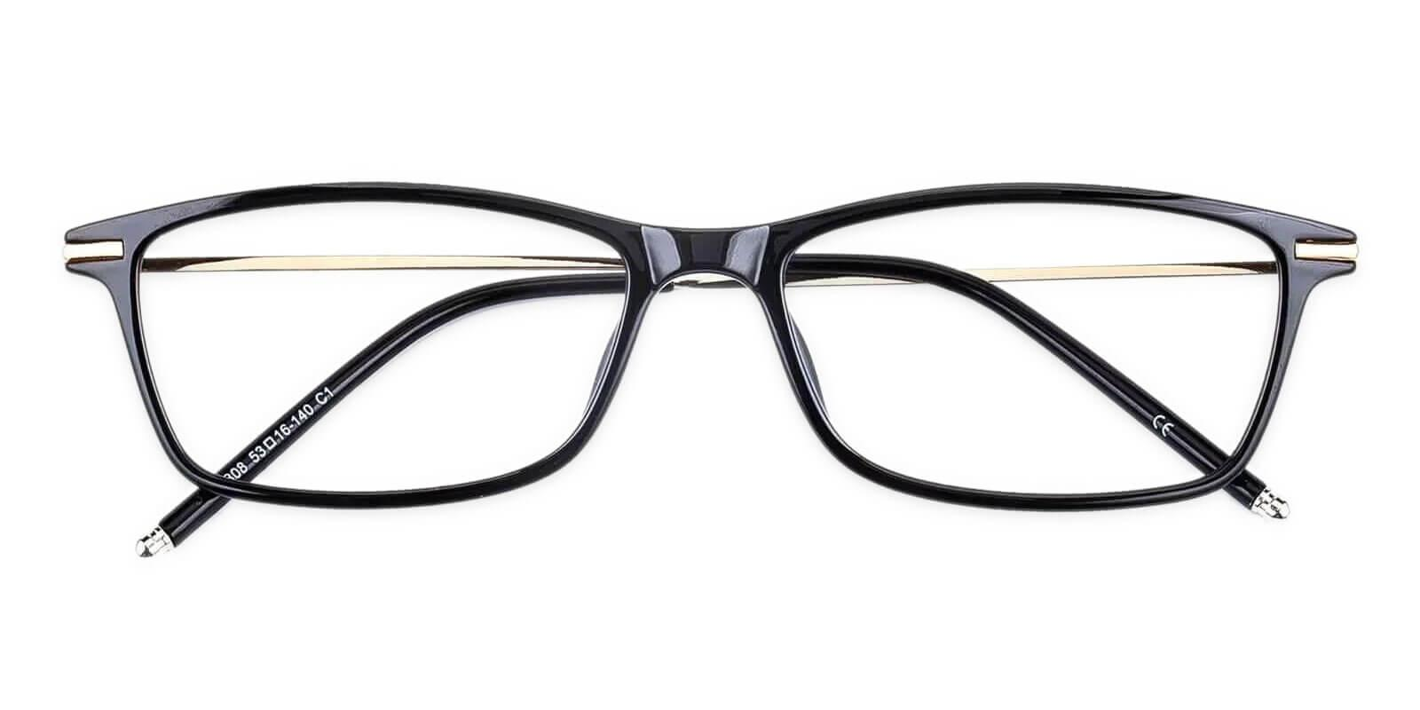 Maldives Black TR Lightweight , UniversalBridgeFit , Eyeglasses Frames from ABBE Glasses