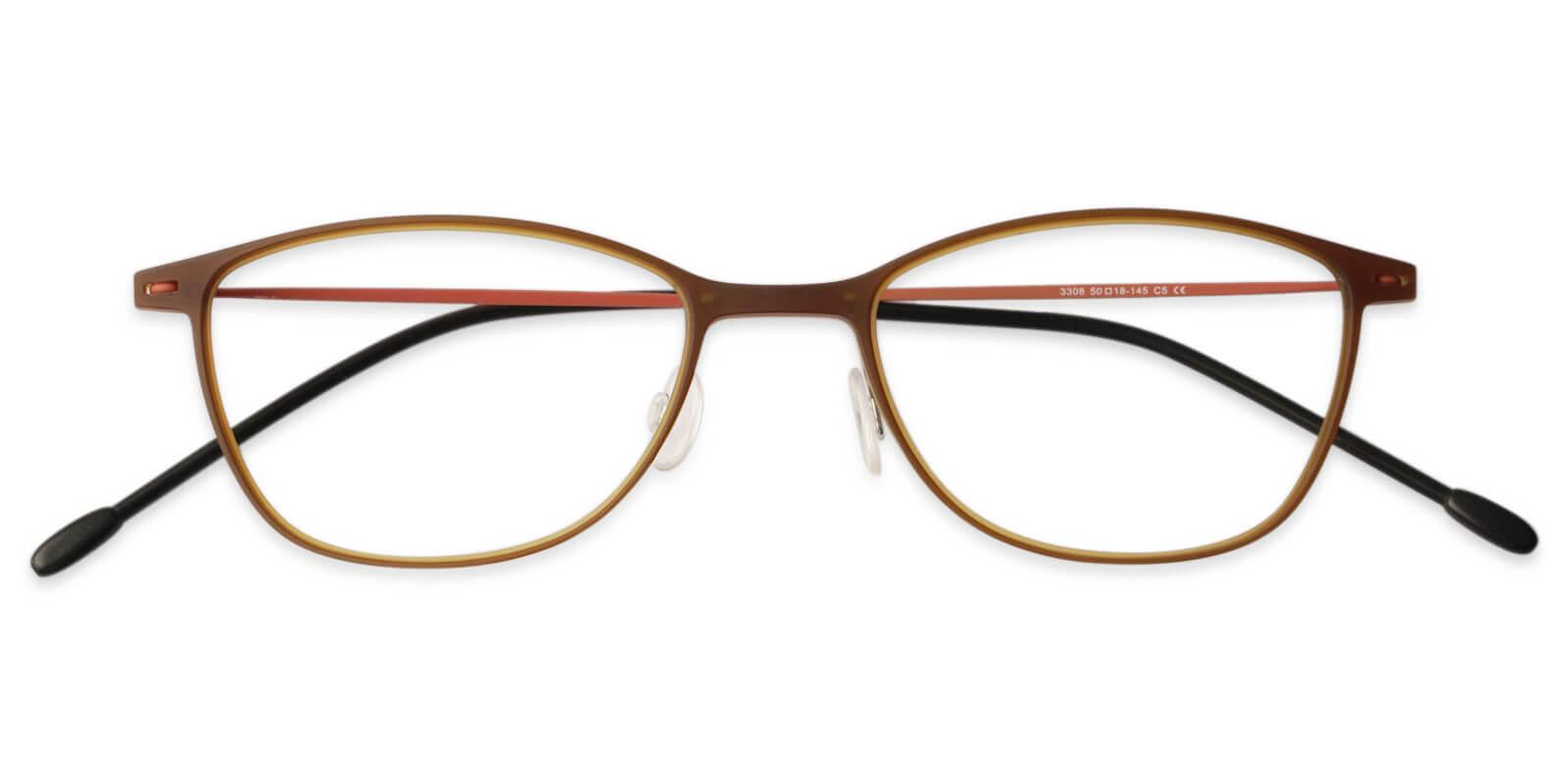 Nigeria Brown Combination Eyeglasses , Lightweight , NosePads Frames from ABBE Glasses