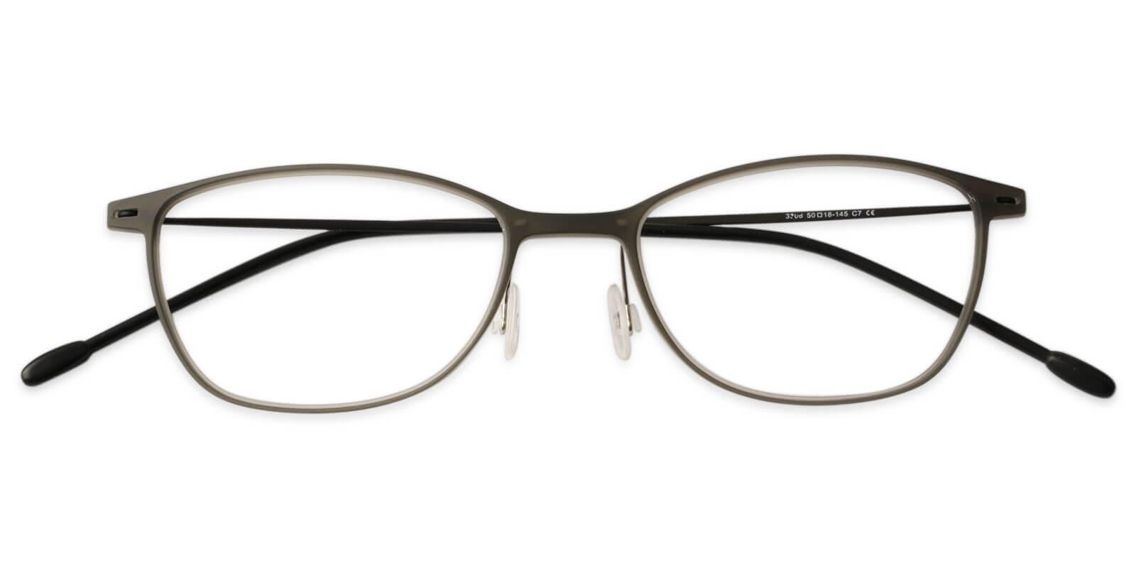 Nigeria Gray Combination Eyeglasses , Lightweight , NosePads Frames from ABBE Glasses
