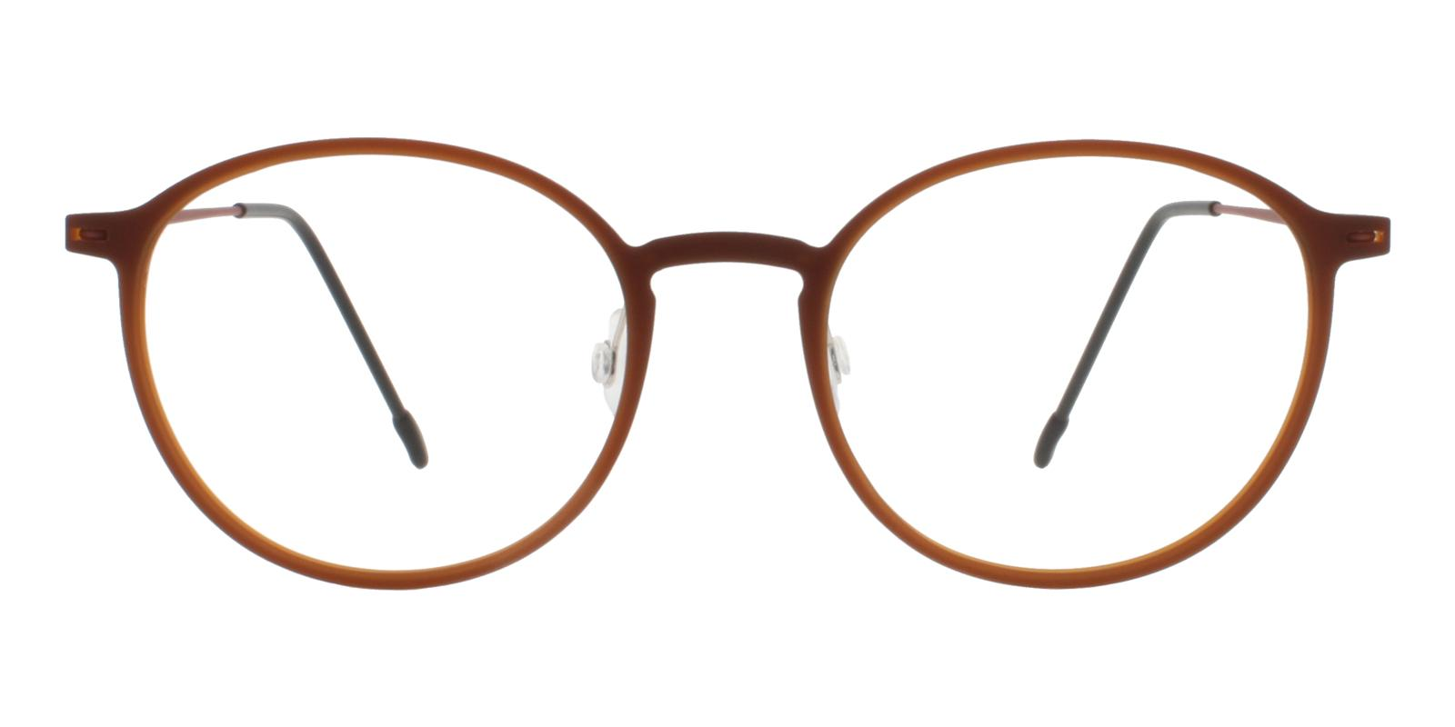 Gambia Brown Combination NosePads , Eyeglasses , Lightweight Frames from ABBE Glasses