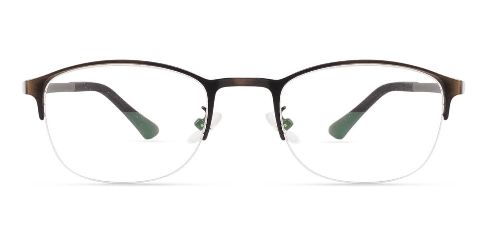Bailey Gun Metal Eyeglasses , NosePads Frames from ABBE Glasses