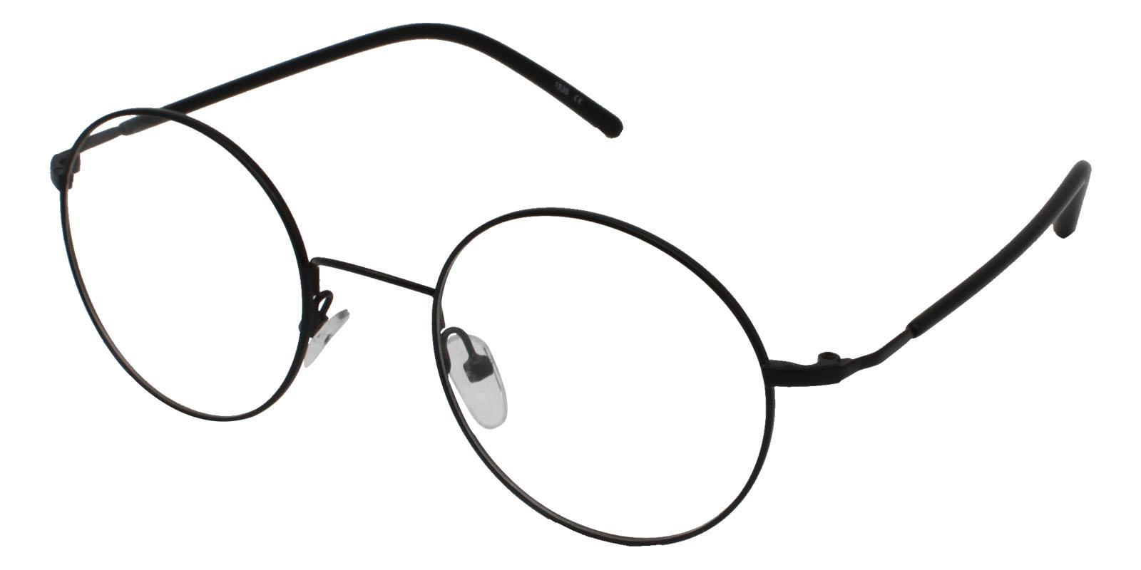 Faith Black Metal Eyeglasses , Lightweight , NosePads Frames from ABBE Glasses