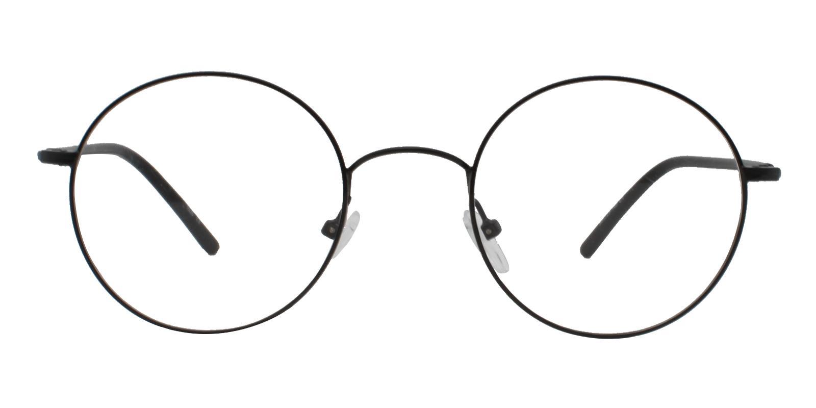 Faith Black Metal Eyeglasses , Lightweight , NosePads Frames from ABBE Glasses
