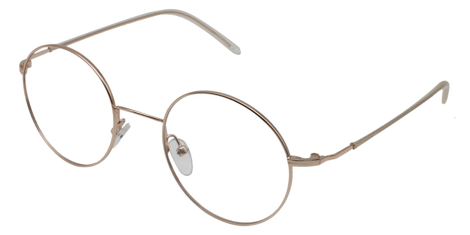 Faith Gold Metal NosePads , Eyeglasses , Lightweight Frames from ABBE Glasses