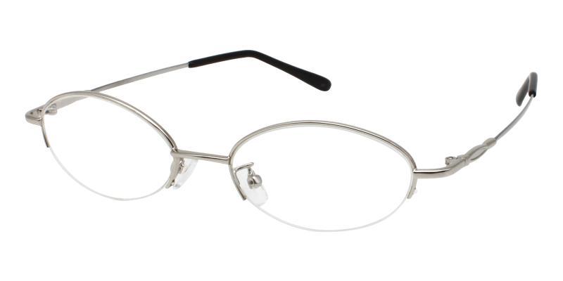Silver Genesis - Metal Eyeglasses , NosePads