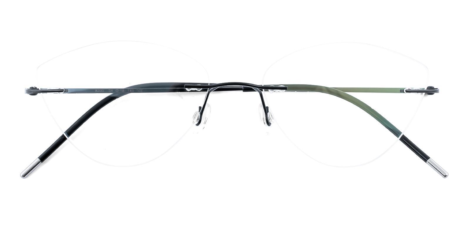Congo Black Metal Eyeglasses , NosePads Frames from ABBE Glasses