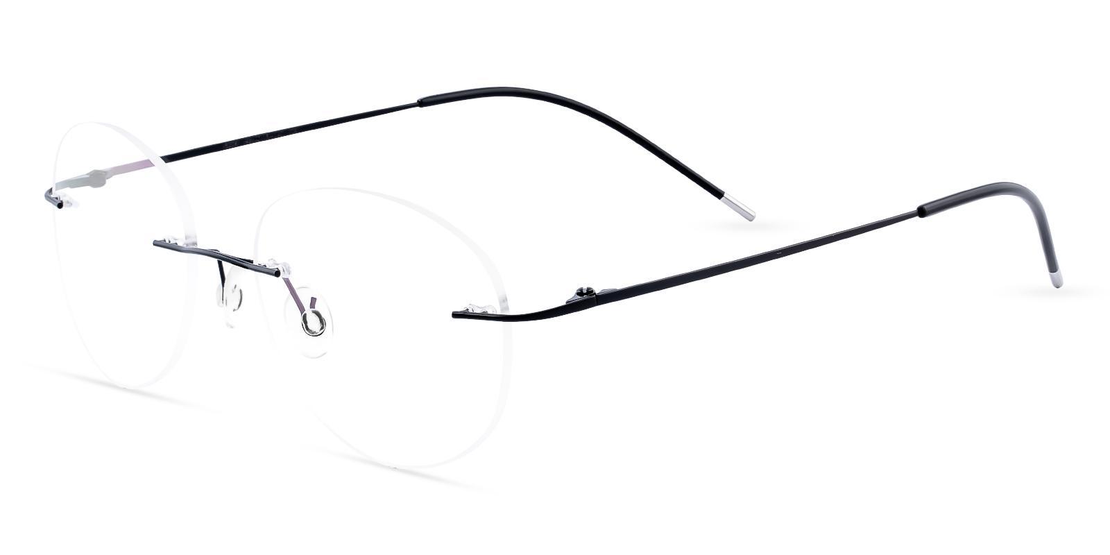 Eritrea Black Metal Eyeglasses , NosePads Frames from ABBE Glasses