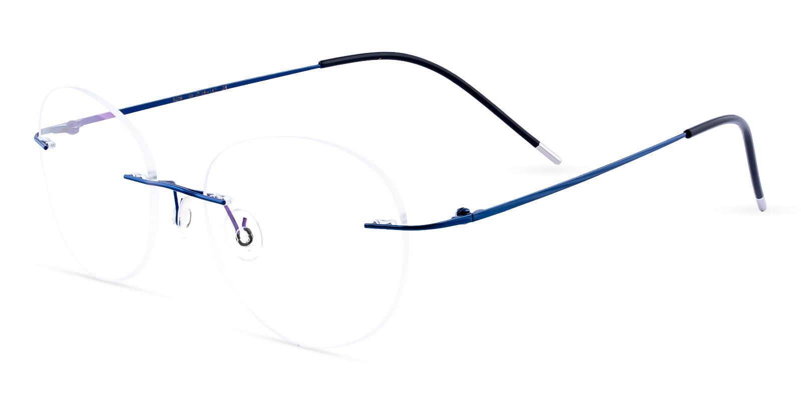 Eritrea Blue Metal Eyeglasses , NosePads Frames from ABBE Glasses