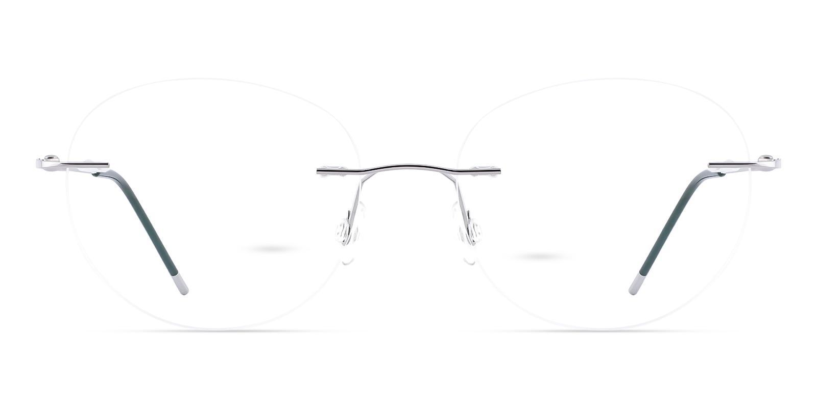 Eritrea Silver Metal Eyeglasses , NosePads Frames from ABBE Glasses