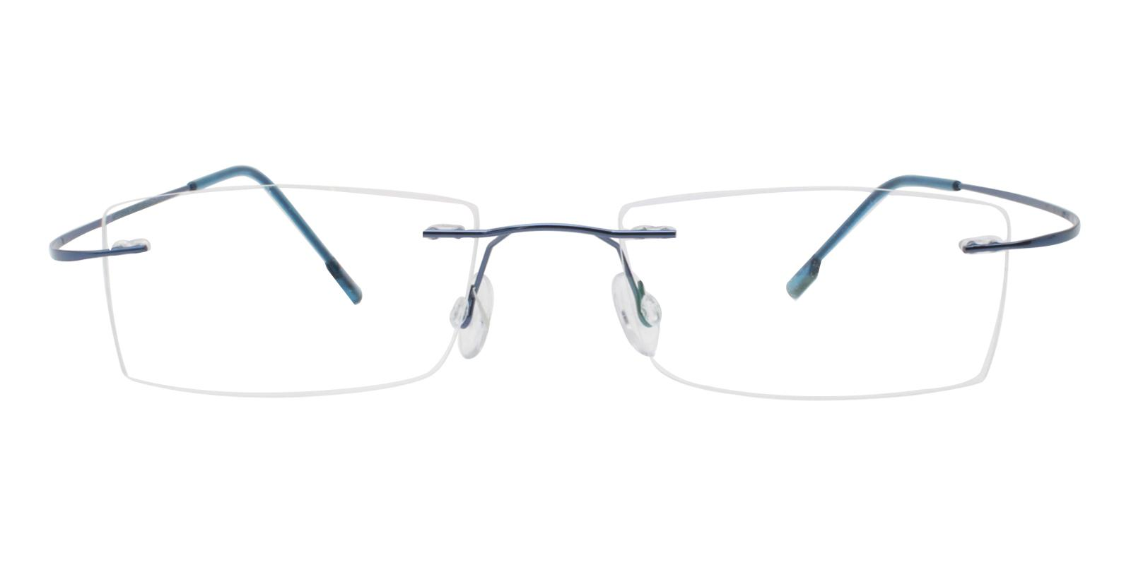 Isabel Blue Metal , Memory Eyeglasses , NosePads Frames from ABBE Glasses