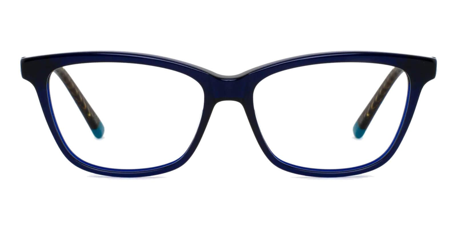 Estonia Blue Acetate Eyeglasses , SpringHinges , UniversalBridgeFit Frames from ABBE Glasses