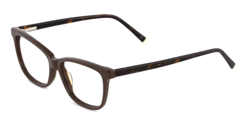 Brown Estonia - Acetate ,Universal Bridge Fit