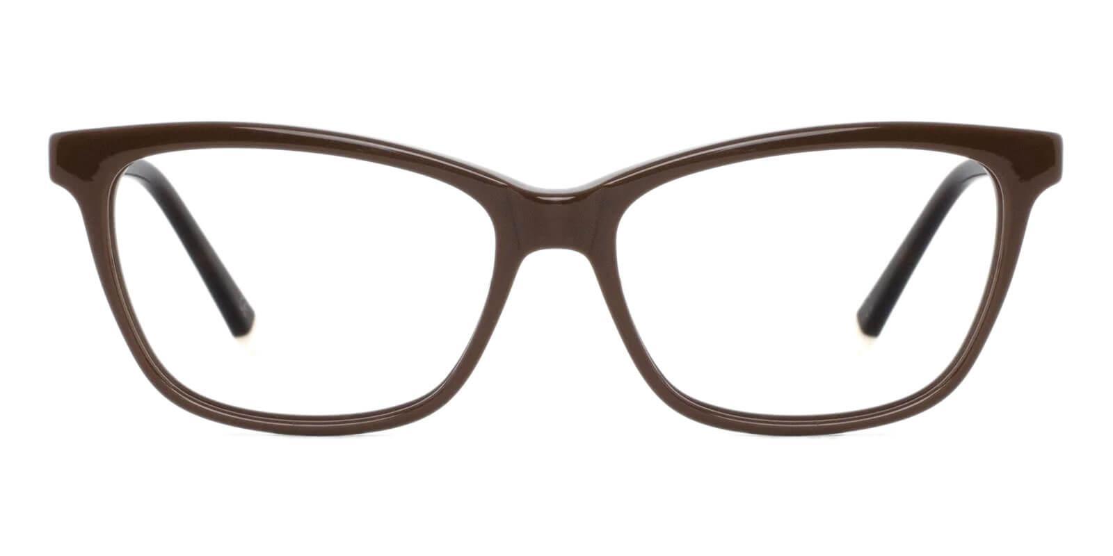 Estonia Brown Acetate Eyeglasses , SpringHinges , UniversalBridgeFit Frames from ABBE Glasses