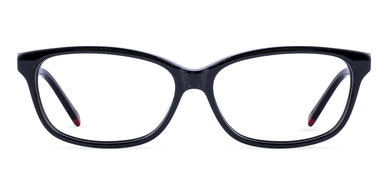 Cyprus Black Acetate Eyeglasses , SpringHinges , UniversalBridgeFit Frames from ABBE Glasses