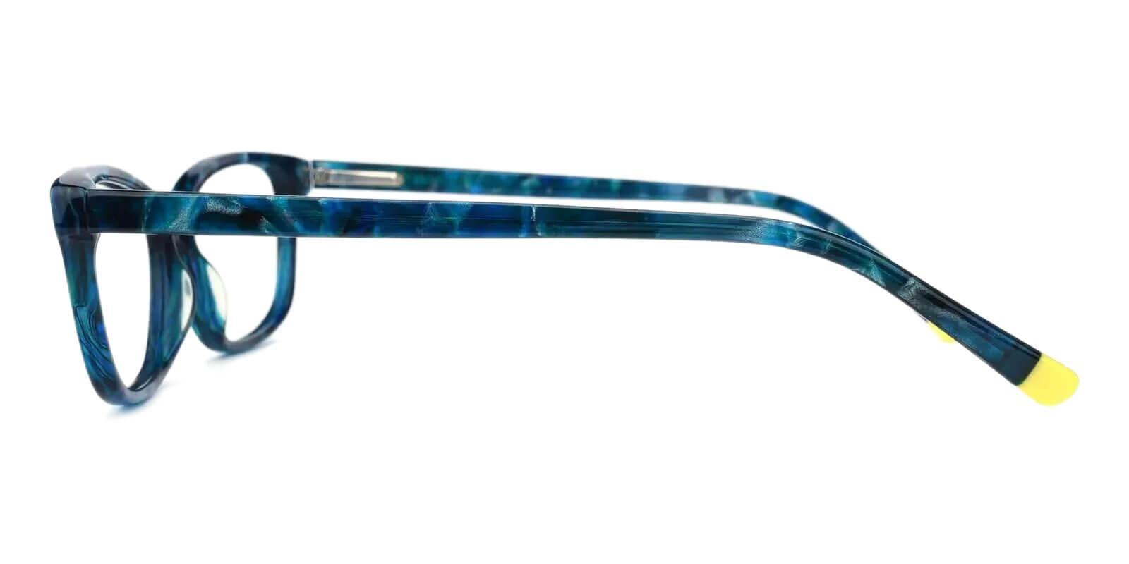 Cyprus Blue Acetate Eyeglasses , SpringHinges , UniversalBridgeFit Frames from ABBE Glasses
