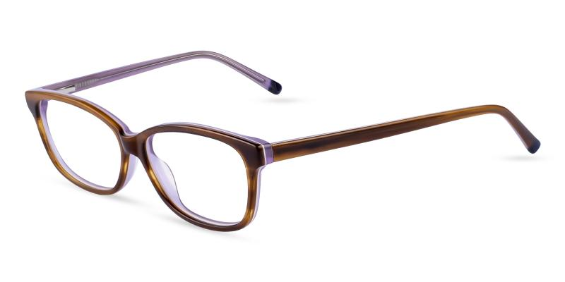 Brown Cyprus - Acetate Eyeglasses , SpringHinges , UniversalBridgeFit