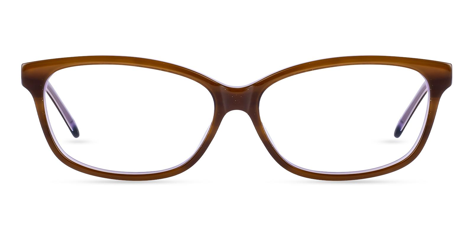 Cyprus Brown Acetate SpringHinges , UniversalBridgeFit , Eyeglasses Frames from ABBE Glasses