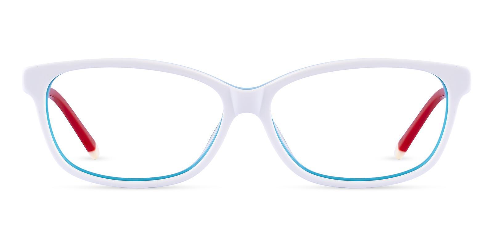 Cyprus White Acetate Eyeglasses , SpringHinges , UniversalBridgeFit Frames from ABBE Glasses