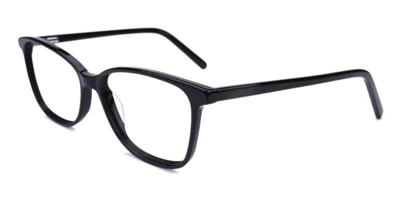 Black Belize - Acetate SpringHinges , UniversalBridgeFit , Eyeglasses