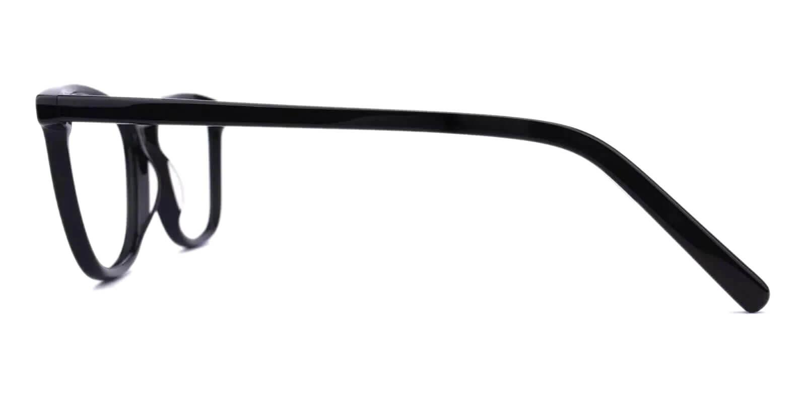 Belize Black Acetate Eyeglasses , SpringHinges , UniversalBridgeFit Frames from ABBE Glasses