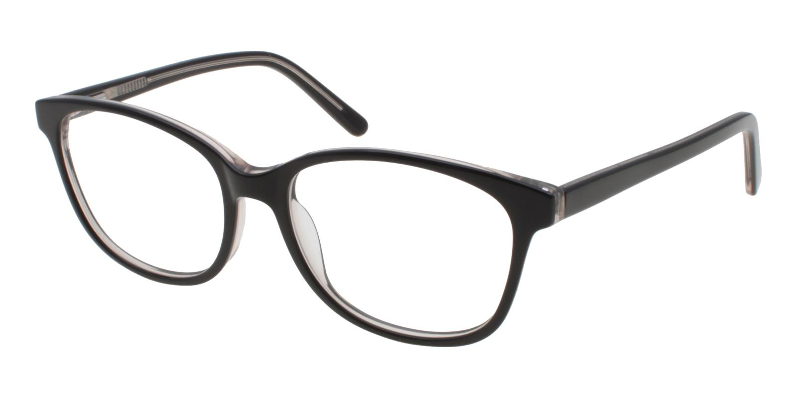 Bolivia Black Acetate Eyeglasses , SpringHinges , UniversalBridgeFit Frames from ABBE Glasses