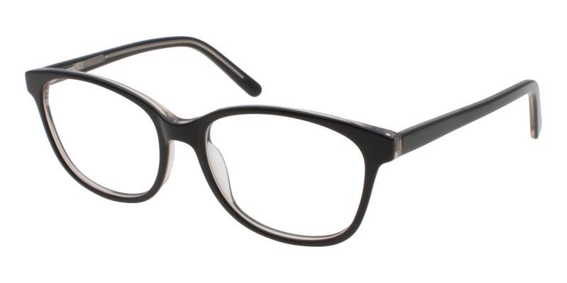 Black Bolivia - Acetate SpringHinges , UniversalBridgeFit , Eyeglasses