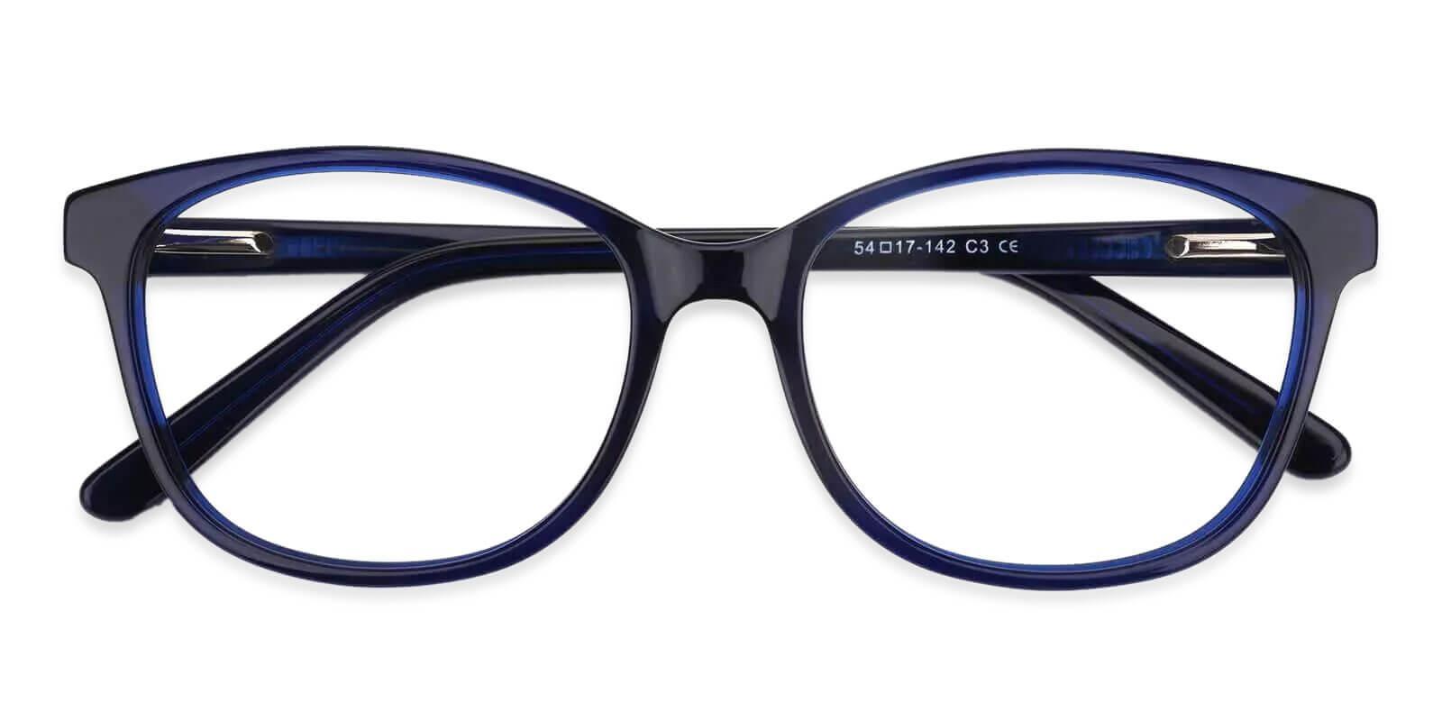Bolivia Blue Acetate Eyeglasses , SpringHinges , UniversalBridgeFit Frames from ABBE Glasses