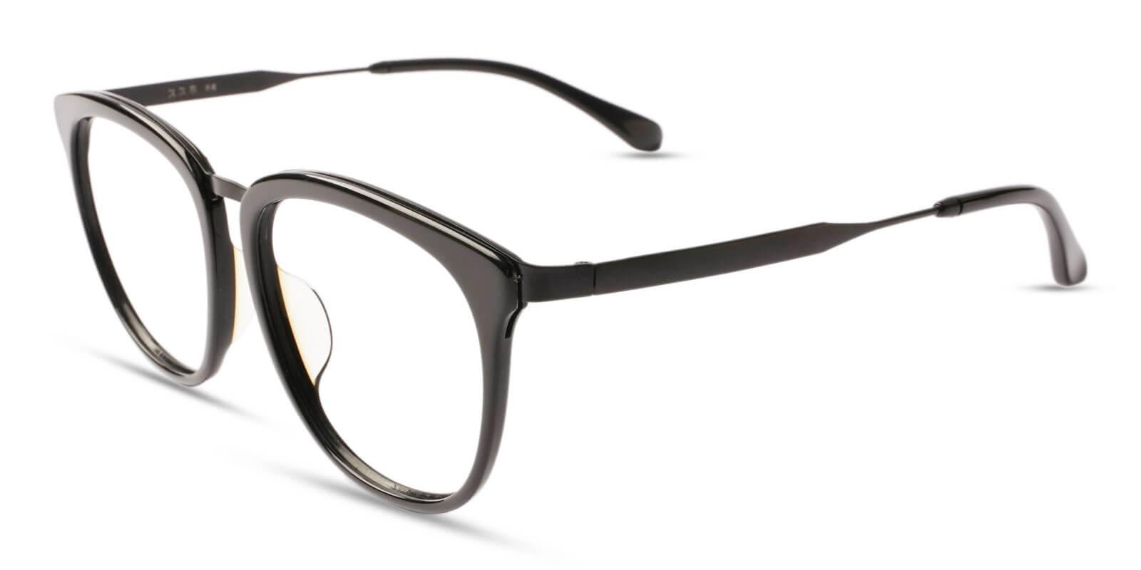 Burundi Black Acetate , Metal Eyeglasses , UniversalBridgeFit Frames from ABBE Glasses