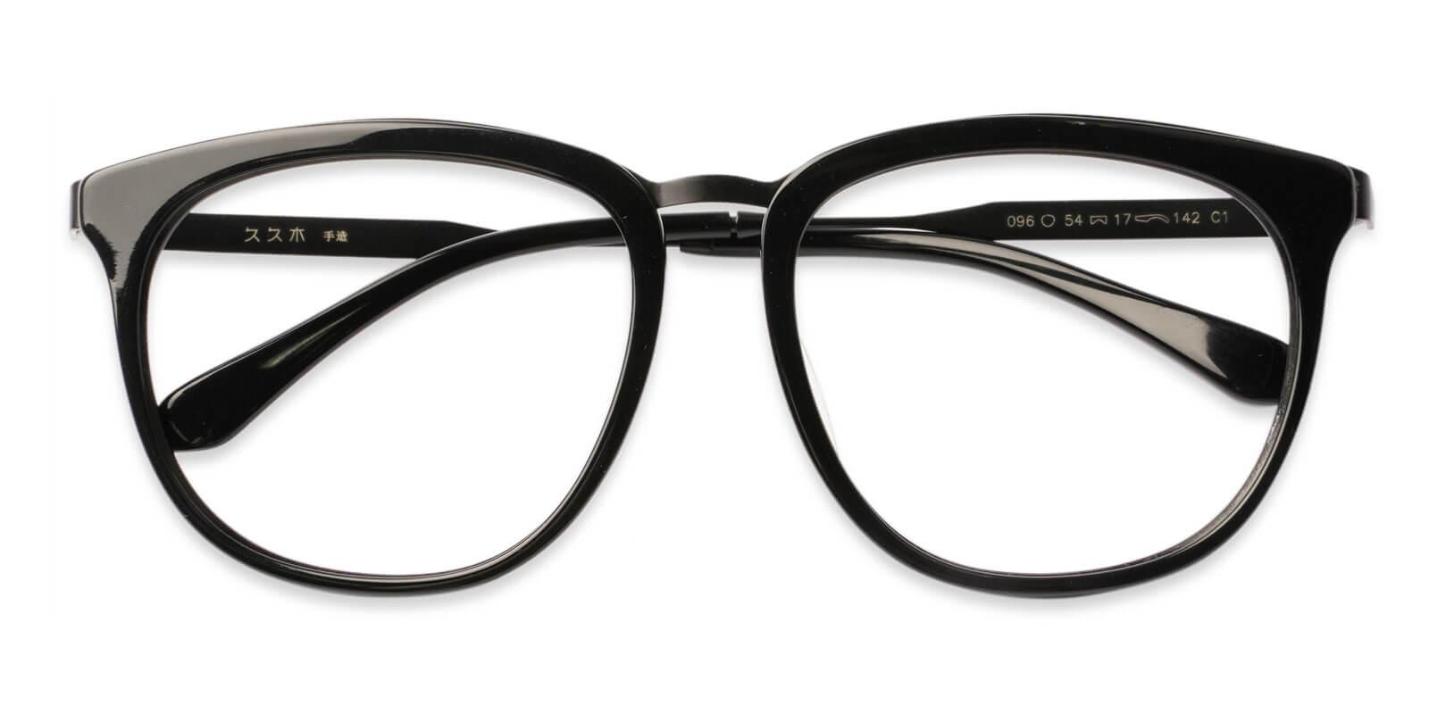 Burundi Black Acetate , Metal Eyeglasses , UniversalBridgeFit Frames from ABBE Glasses