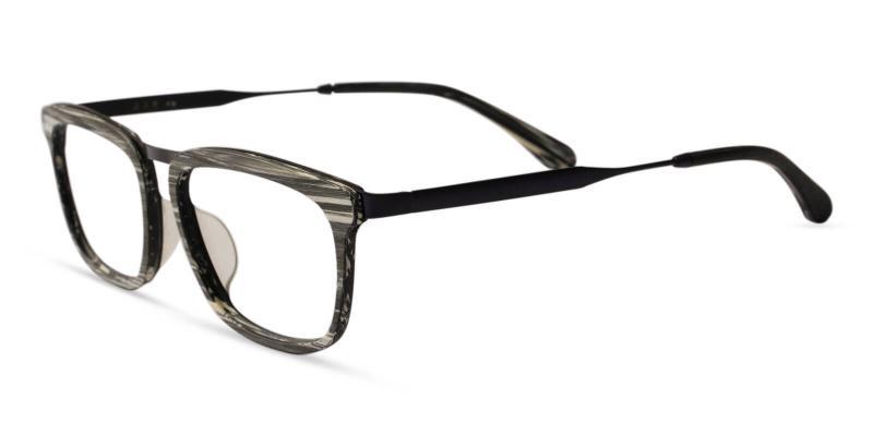 Pattern Audrey - Acetate , Metal Eyeglasses , UniversalBridgeFit