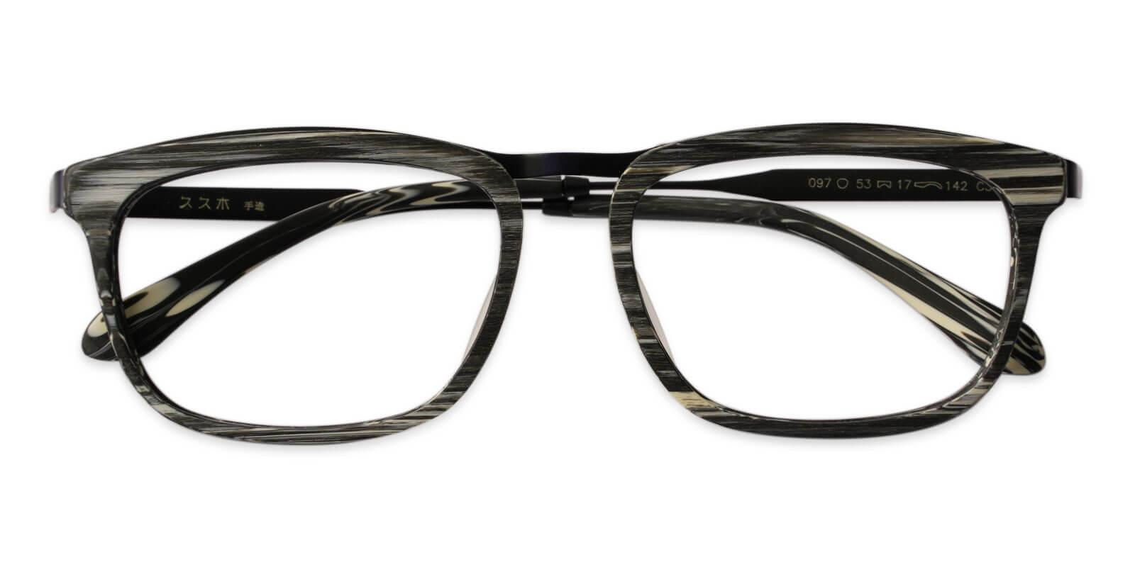 Audrey Pattern Acetate , Metal Eyeglasses , UniversalBridgeFit Frames from ABBE Glasses