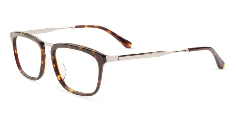 Tortoise Audrey - Acetate , Metal Eyeglasses , UniversalBridgeFit