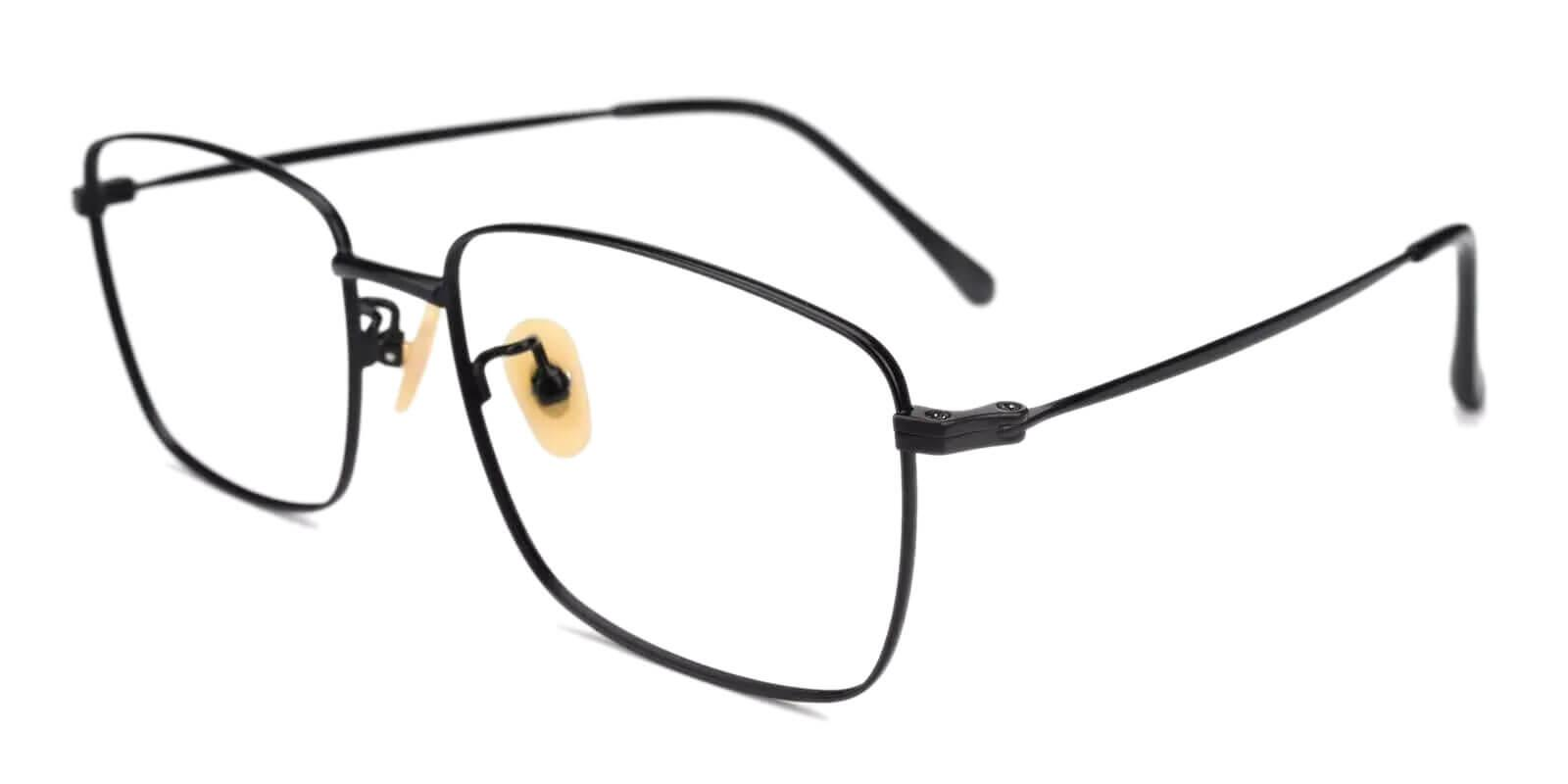 Morocco Black Titanium Eyeglasses , Lightweight , NosePads Frames from ABBE Glasses