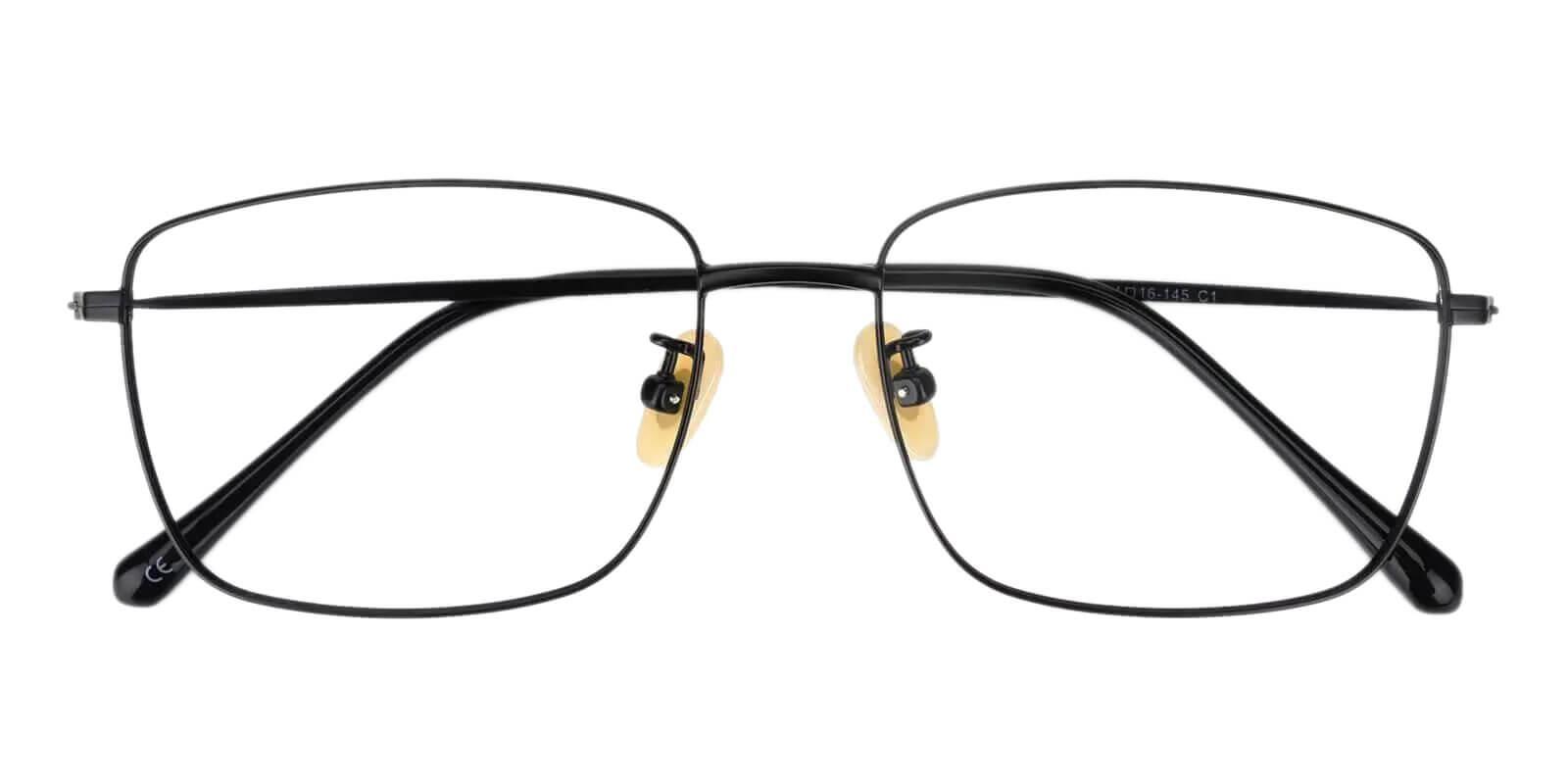 Morocco Black Titanium Lightweight , NosePads , Eyeglasses Frames from ABBE Glasses