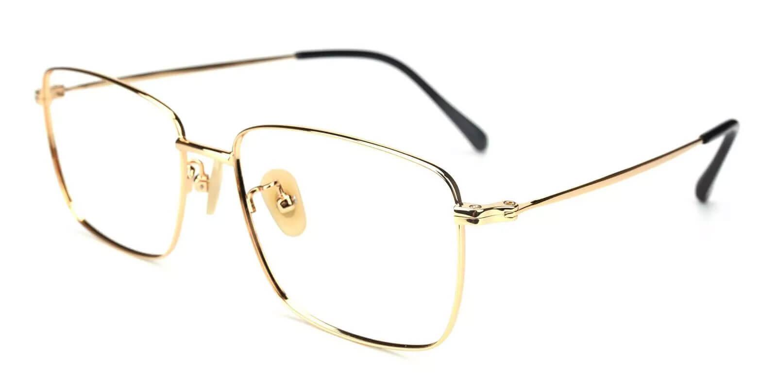 Morocco Gold Titanium Lightweight , NosePads , Eyeglasses Frames from ABBE Glasses