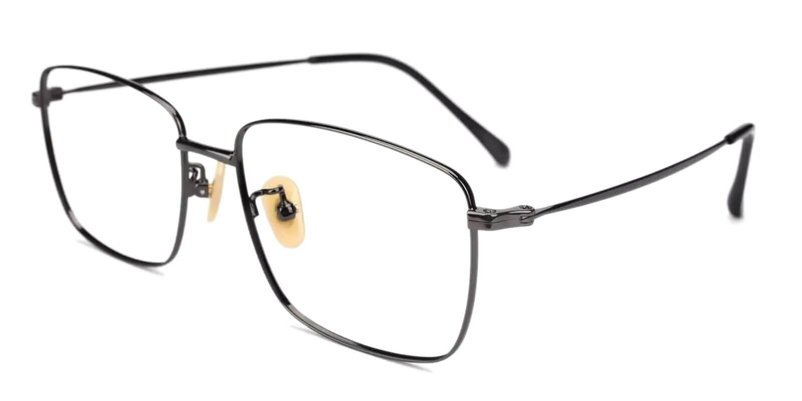 Morocco Gun Titanium Eyeglasses , Lightweight , NosePads Frames from ABBE Glasses