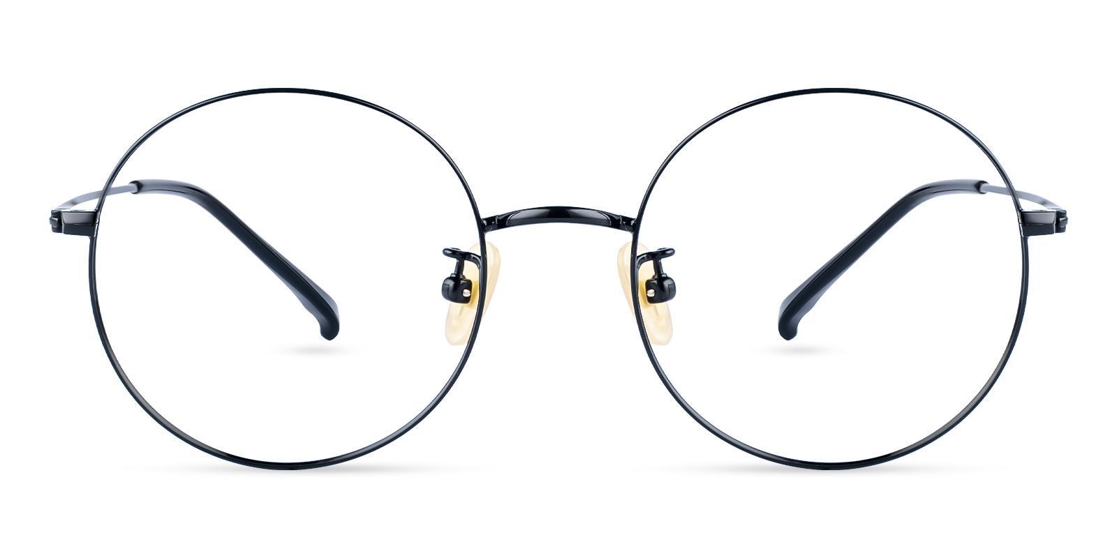 Zoe Black Titanium Eyeglasses , Lightweight , NosePads Frames from ABBE Glasses