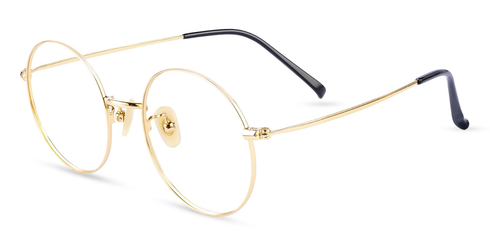 Zoe Gold Titanium NosePads , Eyeglasses , Lightweight Frames from ABBE Glasses